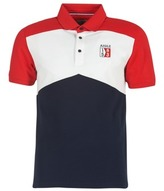 Aigle 53 POLOSHIRT CB Blue / White / Red