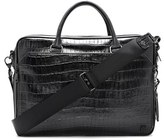 Vince Camuto Men's 'Turin' Leather Briefcase - Black