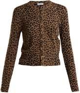 Balenciaga Leopard jacquard cropped cardigan