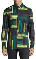 Versace Tetris Frame Casual Button Down Shirt