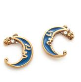 Marc Jacobs Enamel Moon Stud Earrings