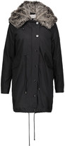 W118 by Walter Baker Alyssa convertible faux fur-trimmed cotton-canvas hooded coat