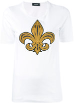 DSQUARED2 embroidered T-shirt - women - Cotton/Silk - XS