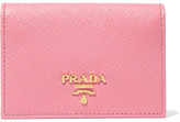 Prada Textured-leather Cardholder - Pink