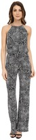 Laundry by Shelli Segal Printed Matte Jersey Jumpsuit with Chain Neck