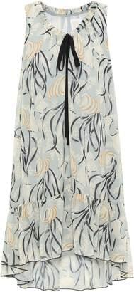 Anna Sui Ruffled Printed Woven Mini Dress