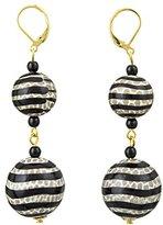 Kenneth Jay Lane Double Black & White Drop Earrings