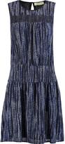 MICHAEL Michael Kors Burnell smocked printed crepe mini dress