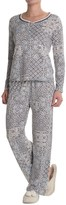Laura Ashley Double Banded Pajamas - Long Sleeve (For Women)