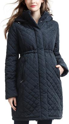 Kimi + Kai Momo Maternity Prue Quilted Parka Coat