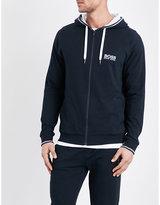 HUGO BOSS Stripe detail zip-up hoody