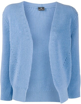 Paul Smith Open Front Ribbed Cardigan