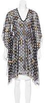 Anna Sui Brocade Silk-Blend Tunic