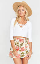 MUMU The Great Wrap Short ~ Cora Louise Crinkle Stretch