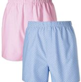 Charles Tyrwhitt Pink and sky dot 2 pack boxers