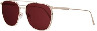 Tom Ford Men's Kip Square Metal Sunglasses