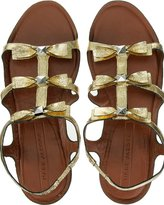 Gold Toned Bow Detail Sandals