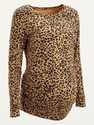 Old Navy Maternity Leopard-Print Long-Sleeve Tee