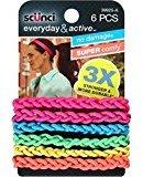 Scunci Everyday & Active Strand Elastics, Assorted Colors 6 ea (Pack of 11)