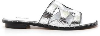 MICHAEL Michael Kors Annalee Metallic Slides