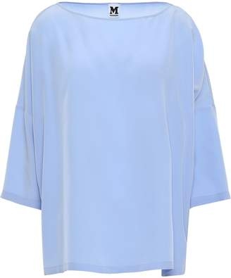 M Missoni Oversized Silk Crepe De Chine Blouse