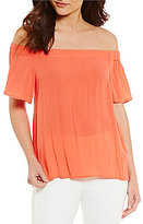 1 STATE Off-the-Shoulder Flounce Blouse