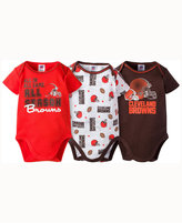 Gerber Babies' Cleveland Browns 3 Piece Creeper Set
