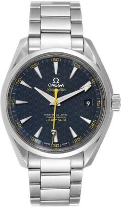 Omega Blue Stainless Steel Seamaster Aqua Terra James Bond Limited Edition 231.10.42.21.03.004 Men's Wristwatch 41.5 MM