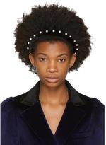 Altuzarra Black Velvet Pearl Headband