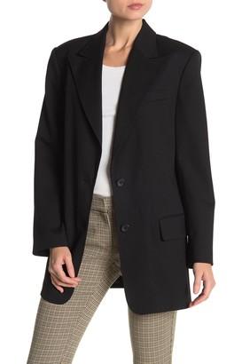 A.L.C. Wool Blend Front Button Blazer