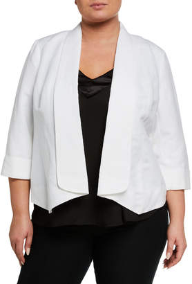 Kasper Plus Plus Size Fly-Away Cuff-Sleeve Jacket