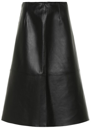 S Max Mara Perak high-rise leather midi skirt