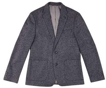 Burton Mens Charcoal Textured Jersey Blazer