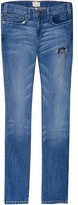 Current/elliott Super Slouchy Skinny Jeans with Paint