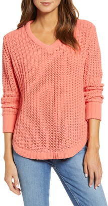 Caslon Chenille V-Neck Sweater