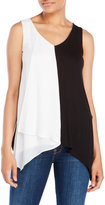 August Silk Cascading Color Block Tank