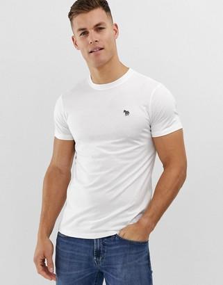 Paul Smith slim fit zebra logo t-shirt in white