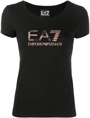 EA7 Emporio Armani logo-print short sleeved T-shirt