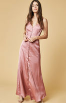 Oh My Love Satin Buttoned Cami Maxi Dress