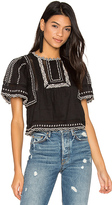 Rebecca Taylor Short Sleeve Esme Embroidered Top in Black. - size 2 (also in )