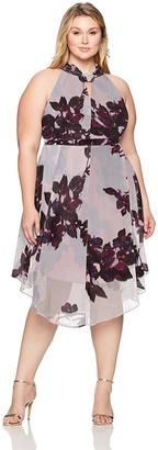 Rachel Roy Women's Plus Size Chiffon Midi Dress