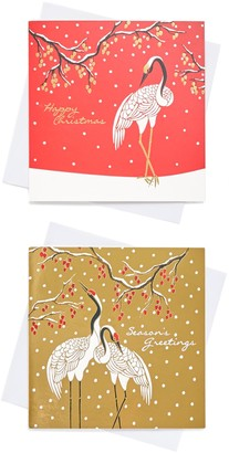 John Lewis & Partners Cranes Charity Christmas Cards, Pack of 10