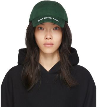 Balenciaga Green Logo Visor Cap