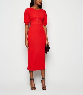 New Look Urban Bliss Diamante Backless Midi Dress