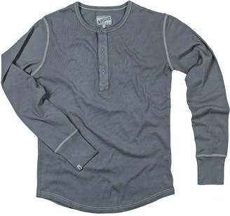 &Sons Trading Co The Original Elder Henley Shirt Grey - Long Sleeve