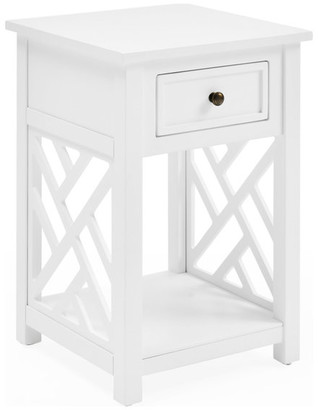 Bolton Furniture Coventry Wood End Table With Drawer and Shelf