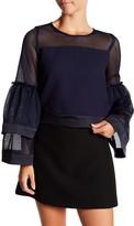 Gracia Layered Bell Sleeve Mesh Shirt