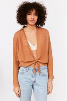 BDG Courtney Tie-Front Open Blouse
