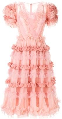Dolce & Gabbana Ruffled Midi Dress