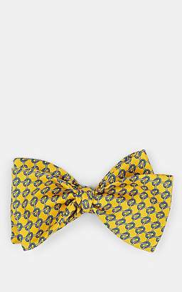 Barneys New York MEN'S CHAIN-PRINT SILK BOW TIE - YELLOW